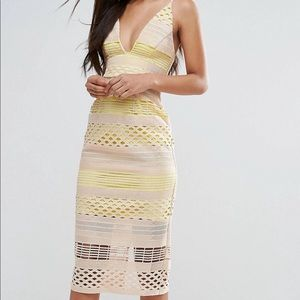 ASOS yellow dress worn once (Tall)